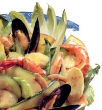 Shellfish and mango salad