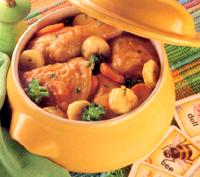 Chicken and banana hot pot