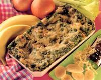 Vegetarian banana lasagne