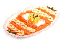 Amanida de pastanagues i plàtans