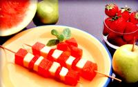 Mixed fruit and watermelon kebabs